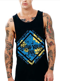tattoos and piercings shop, show your ink, tattoo shirts for men, guys with tattoos, tattoos and piercings in the workplace, surfer tank top, floral tank top