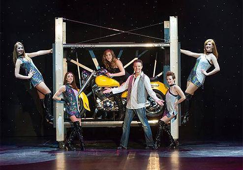 jim stafford theatre, Branson Missouri, magic show, illusionist in branson, motorcycle trick