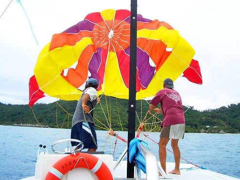 colorful parasail, missouri water sports, midwest tourism, table rock lake