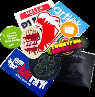 branson screen printing, custom stickers