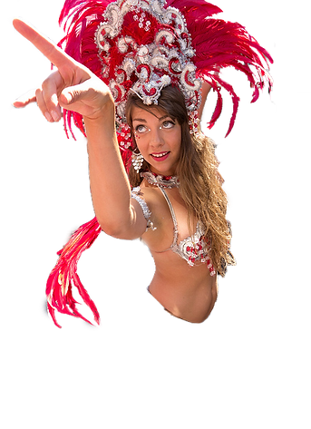 Branson entertainment, costumed dancer