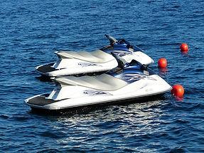 orange buoys, white river lake tours