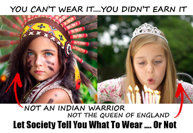 warbonnet, native american headdress, dress code, offensive clothing, racist clothing, tiara crown, queen of england