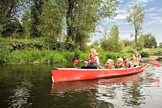 kids canoeing, table rock lake, missouri coves, kids activities