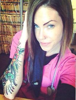 tattooed nurse, tattooed doctor, tattooed and employed