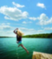 jumping off a dock, table rock activities