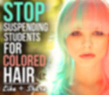 discrimination against colored hair, students suspended, in school suspension, school dress code, piercings, tattoos
