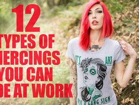 12 Types of Piercings you can Hide at Work