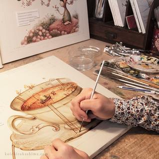 "絵本""Tea & Chameleon""今年10月出版決定!"