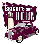 Bright's Iconic Rod Run 30th Logo