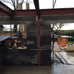 A selection of Some steel work and fabrication works on a project in great Ecclestone Lancashire #st