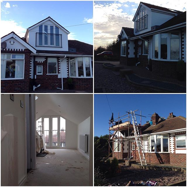 Loft conversion before & after Bispham #perfettibuilders #loft conversion