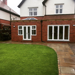 Another extension completed by the Perfetti team in lytham , extended summer room and kitchen area ,
