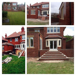 after extension in lytham creating large kitchen dinning area and utility room and outdoor area flag