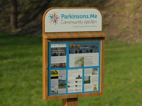 The Community Garden noticeboard