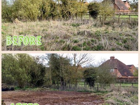 Work starts on the new garden!