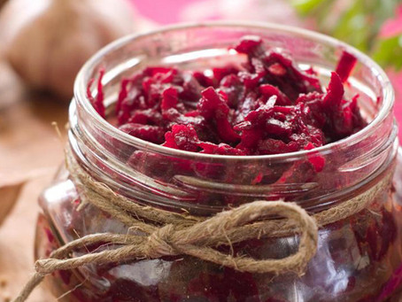 Spiced pickled beetroot with dill