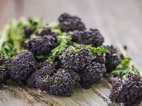 Eat the seasons - purple spouting broccoli