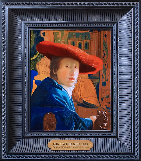 Jorge Alberto,Girl With Red Hat,16 x 14