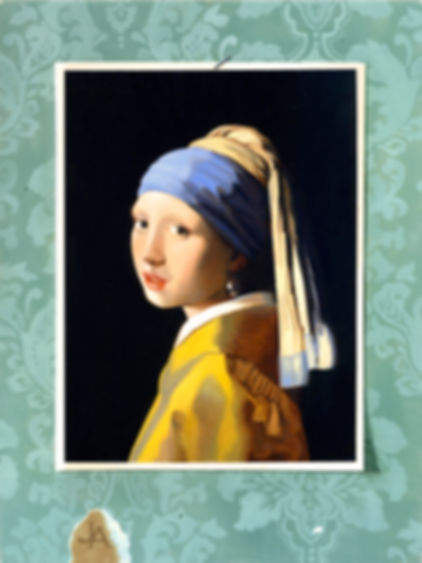Homage to Vermeer - oil on panel - 12 x