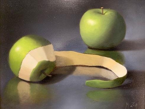 Zoll, Matt, Apple Peel, oil, 7 x 9, $999
