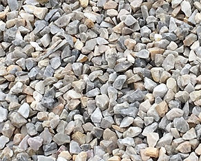 Crushed quartz stone commonly known as rainbow stone, marble stone has pinkish/white and goldish/yellow coloured stones mixed