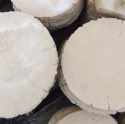 Limestone Log Steppers