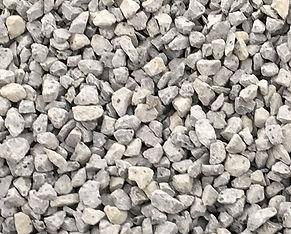 Crushed basalt rock 20mm in size called blue metal