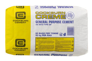 A bag of cockburn creme cement
