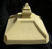 Sandstone peir cap for limestone coloums and brick peirs