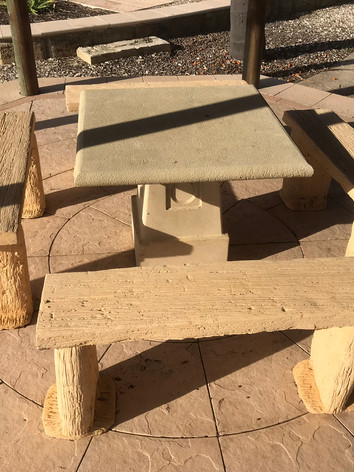 SANDSTONE TABLE & SEATING