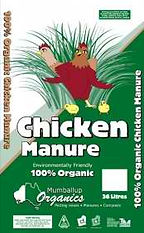 bag of chicken manure from mumballup organics