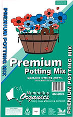 Bag of premium potting mix from mumballup organics