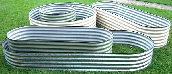 Varity of raised garden beds