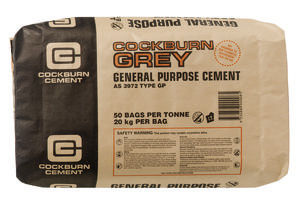 A bag of general purpose cement