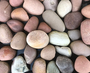 50mm diametre round smooth riverstone can be used to make pet rocks