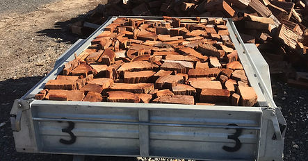 Trailer load of stacked firewood