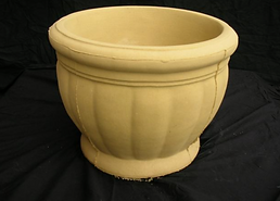 LARGE SANSTONE SCOLLOP POT