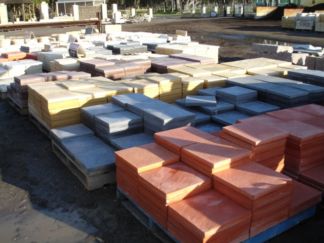 COLOURED PAVING SLABS