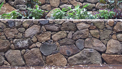 Random granite rock wall