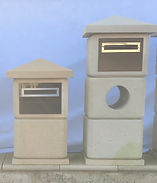 Solid limestone, lightweight modular letterboxes