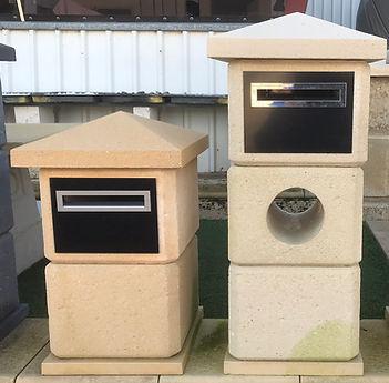 2 & 3 Block modular limestone letteboxes