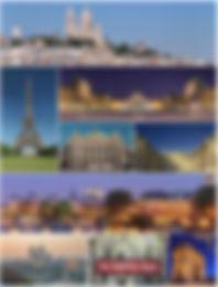 Paris Sacré coeur, tour eiffel, pyramide du louvre, opéra garnier les tuileries, notre dame, arc de triomphe