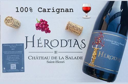 Bouteille d'Hérodias, cuvée 100% carignan