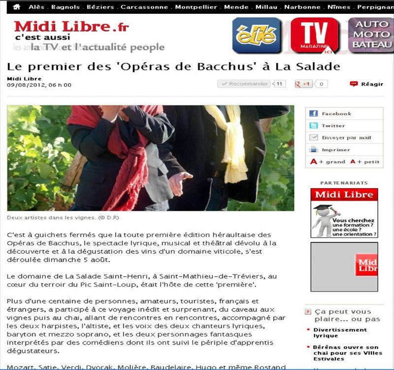 Midi Libre du 9/08/12