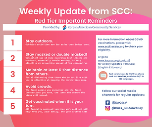 Weekly Update from SCC Red Tier Importan