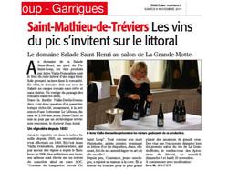 Midi Libre du 8 novembre 2014