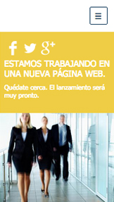Comunicación y Marketing plantillas web – Página web en construcción