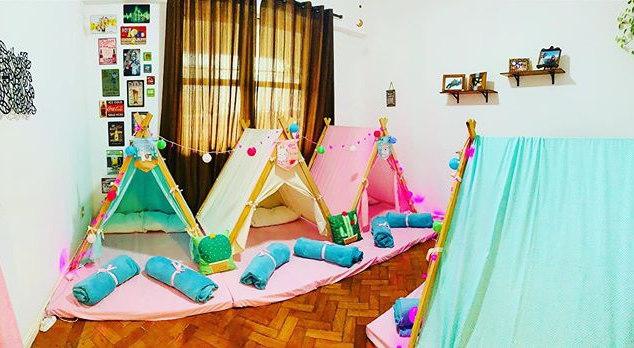 Festa do pijama no tema Lhama
