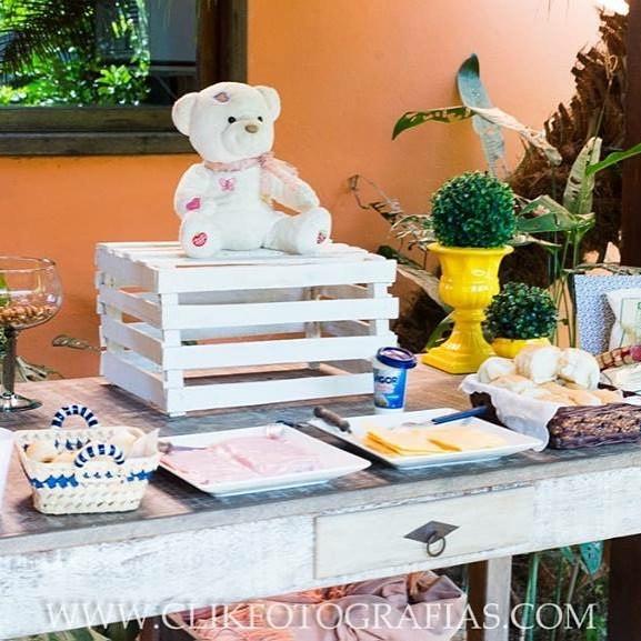 Decoração de mesa Básica-Ursinho